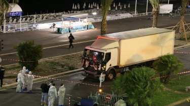 The truck after the driver was shot by police.