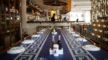Inside Calombaris' restaurant Hellenic Republic in Brunswick.