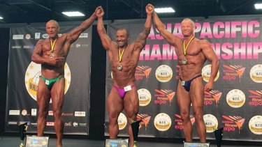 At 51, Fred Liberatore (centre) is in the best shape of his life.