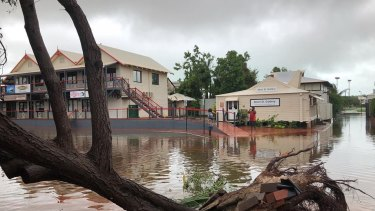 Rain shut down Chinatown in Broome.