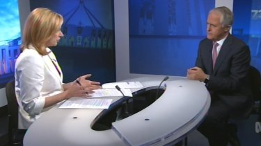 Malcolm Turnbull tore up the China strategy script that had been written for him when the ABC's Leigh Sales asked him about ''the greatest threat to global security''.