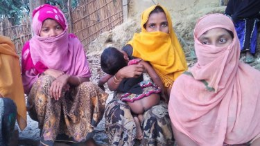 Rohingya women at a refugee camp near Cox's Bazar, Bangladesh. All said that they fled their villages in Myanmar's Rakhine state after being raped.