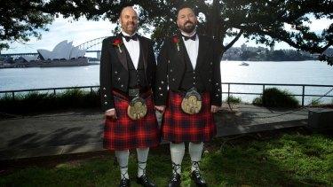 Newlyweds: Gordon Stevenson and Peter Fraser.