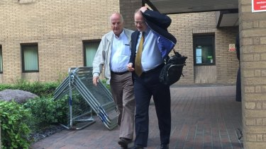 Peter Chapman outside of court in London.