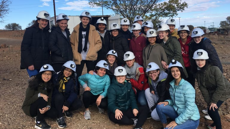 Underground explorers: MLC School students in Broken Hill.