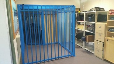The cage in a Canberra school which led to an independent review.