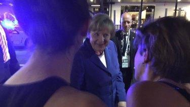 German Chancellor Angela Merkel dropped by Brisbane bar Brewski on Friday night.