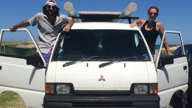 The American tourists planned to travel around Australia for a year in a campervan.