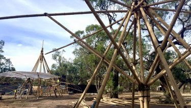 Festival organisers posted photos showing wooden structures being built on site.