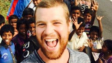 Tom Mackay in India.
