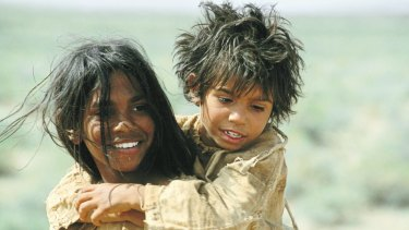 Story on screen: Actors Everlyn Sampi and Tianna Sansbury in the film Rabbit-Proof Fence.