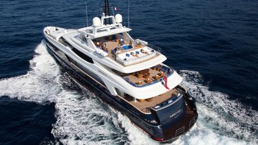 Mischief, the super yacht owned by Ian Malouf.