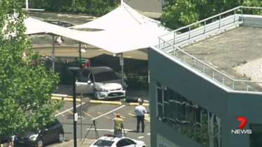 A car has crashed into a childcare centre Macquarie Park in Sydney's north-west.