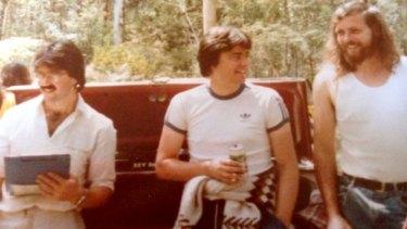 Stuart McArthur, Tim Dorgan and Mick Stevens during the pub crawl.
