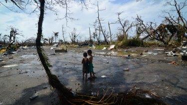Devastation: Tacloban, Philippines, after Typhoon Haiyan in November 2013.