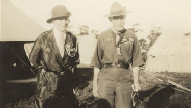 Wilson pictured with Lord Baden Powell.