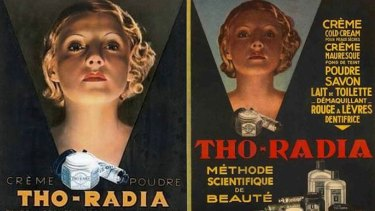 "Radioactive cream anyone? 1920s advertisments for ""Tho-Radia creme"" to give you that 'glow'."