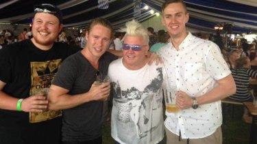 Geelong mayor Darryn Lyons at the beer festival yesterday.