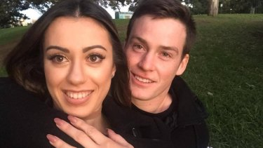 Young lovers: Luke Keary and Amy Bugeja.