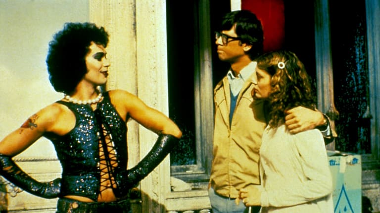 Tim Curry, Barry Bostwick and Susan Sarandon in