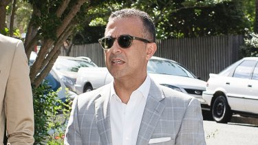 SBS boss Michael Ebeid arrives at Kirribilli House as Malcolm Turnbull hosts a reception for business leaders.