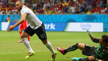 Karim Benzema missed a penalty and scored France's fourth goal.