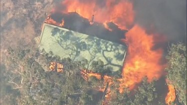 One home has been destroyed in a bushfire in Wensleydale, south-west of Geelong.