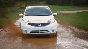 The Nissan Note with super-hydrophobic paint that repels standing water and road spray from creating dirty marks on a car's surface.