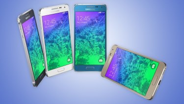Samsung's latest smartphone, the Galaxy Alpha, has a chamfered metal edge similar to the iPhone 5S and a 4.7-inch screen — one of the rumored sizes of the coming iPhone 6.