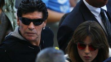 "Argentina ""jinx"": Diego Maradona watched the clash with Iran."