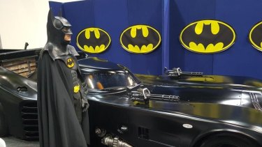 Craig Blackburn at Gold Coast Supanova on the weekend, where children's excitement to see the Batmobile inspired him to use the iconic vehicle to brighten the lives of sick kids in the future.