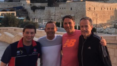 Tony Abbott recently attended the Australia-Israel-UK Leadership Dialogue. Labor's Bill Shorten and Richard Males, and Victorian state MP Tim Smith, were also on the trip.