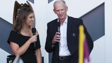 Bright future: Yvonne Sampson, pictured here with Wayne Bennett.