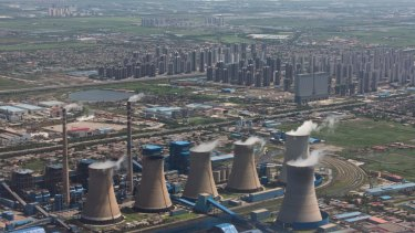 Coal-fired power plant in Tianjin, China