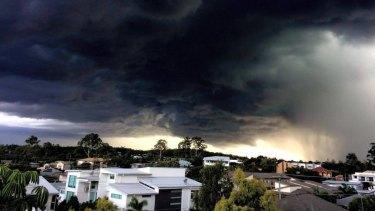 Storm clouds over Morningside.