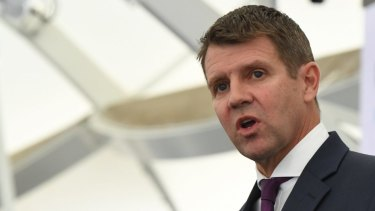 """""""I remain very optimistic and positive about the future"""": Premier Mike Baird."""