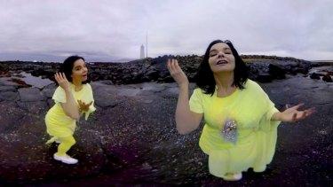 A panoramic view of <em>Stonemilker</em> from Bjork's <i>Vulnicura</i> album.