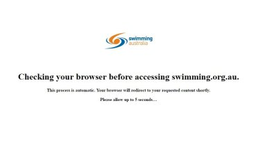 Those attempting to log onto the Swimming Australia website are met with this message.