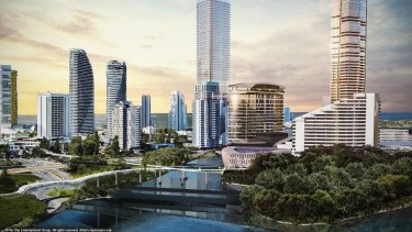 An artist concept of the proposed development at The Star's Jupiters casino on the Gold Coast.