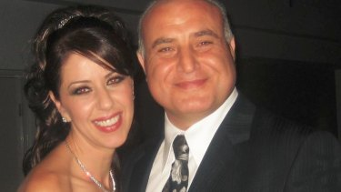 Carol Khattar with her late husband George Khattar.