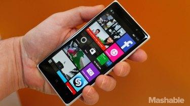 The Nokia Lumia 830, Microsoft's 'affordable flagship'.
