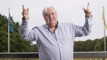 Jovial persona: Clive Palmer has kept up a jocular public face.