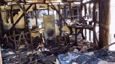 Joel Hudson's house was destroyed by a Samsung washing machine fire in August 2015.