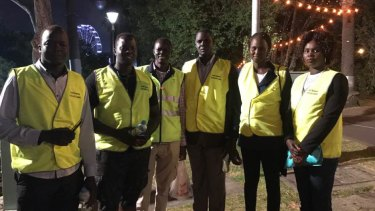 South Sudanese community leaders in fluoro vests have been patrolling the streets during Moomba festivities.