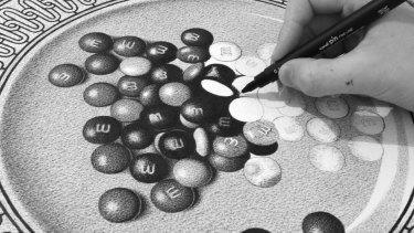 CJ Hendry's striking drawings take up to three weeks to complete.