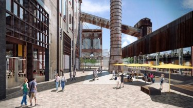 An artist's impression of development at White Bay Power Station.
