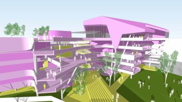 Artist impression of what a new school in Fortitude Valley could look like.