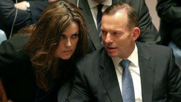 Prime Minister Tony Abbott and his chief of staff, Peta Credlin.