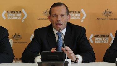 Prime Minister Tony Abbott in Shanghai, China on Friday.