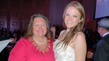 Gina Rinehart and her daughter Ginia Rinehart.